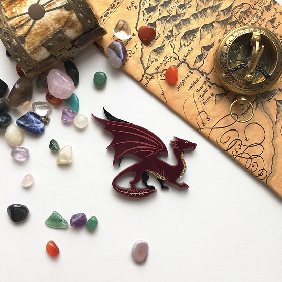 Treasure Dragon Brooch - - Ships by 4th June