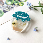 Small Turquoise Homely Honeypot Brooch