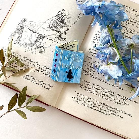 Wonderland Adventures Book Brooch