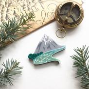 Misty Mountain Brooch