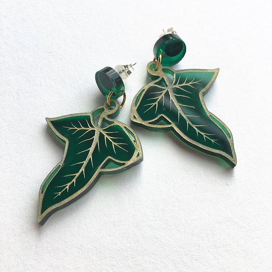Greenleaf Earrings *Gold Detail* - Ships by 4th June