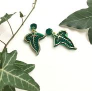 Greenleaf Earrings *Gold Detail*