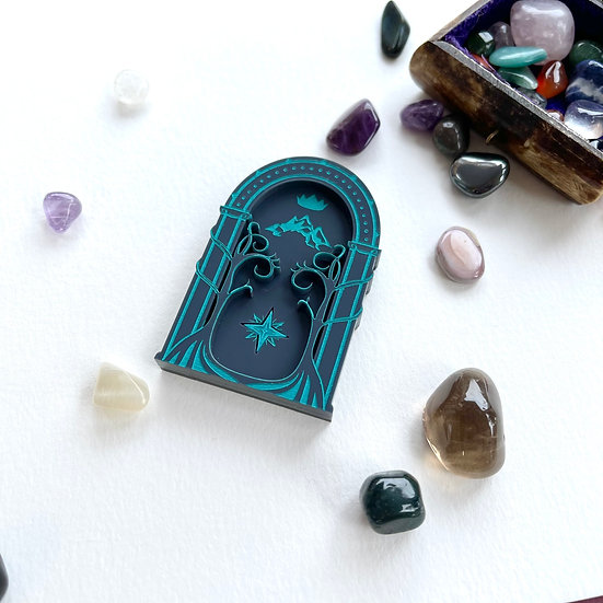 Mine Doors Brooch *Turquoise Detail* - Ships by 4th June