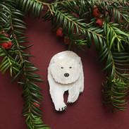 Pete the Polar Bear Brooch