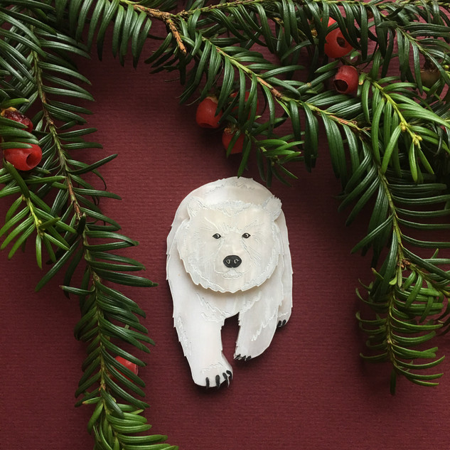 Pete the Polar Bear Brooch