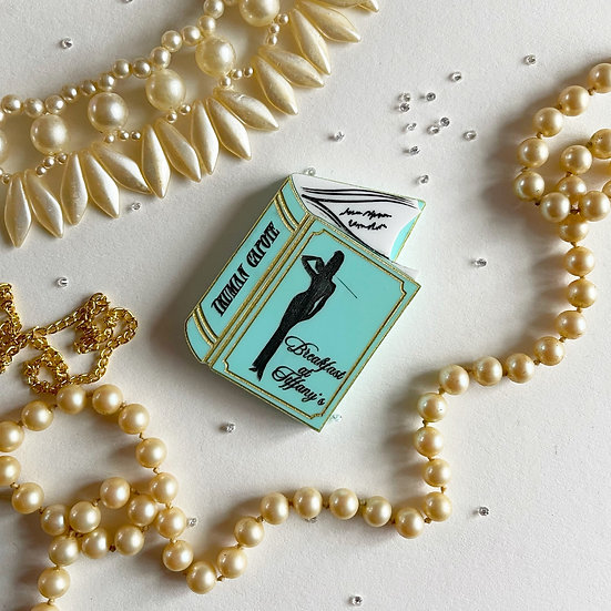 Breakfast at Tiffany's Book Brooch