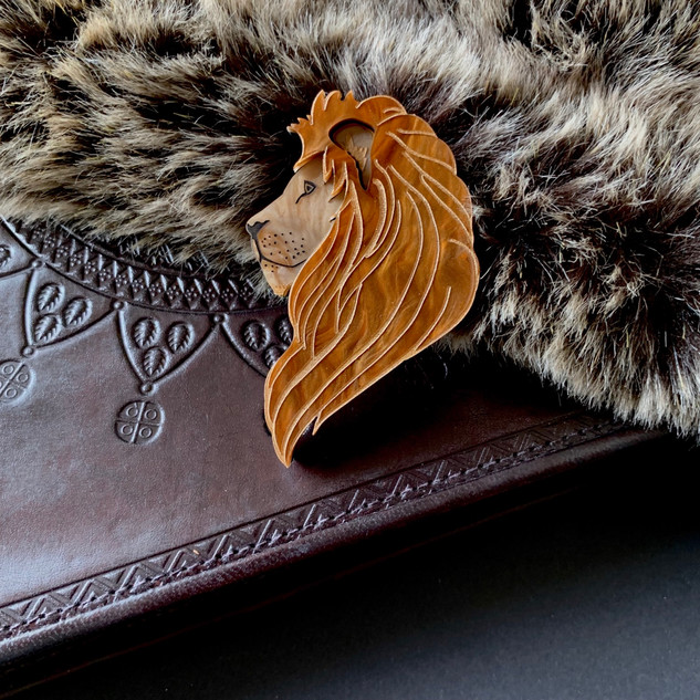 The Regal Lion Brooch