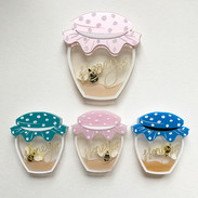 Original and Small Homely Honeypot Brooch Compare