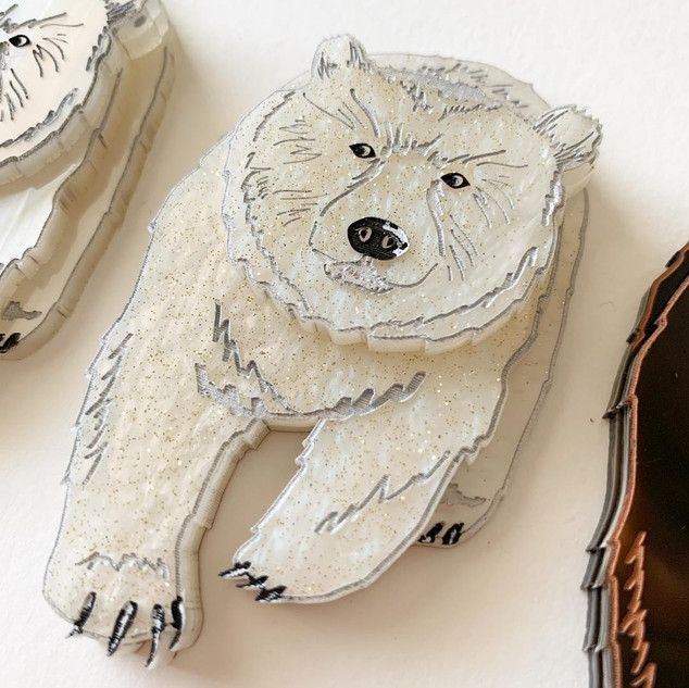Sparkly Pete the Polar Bear Brooch