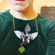 Gina's Good Luck Magpie Necklace