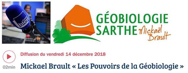 France bleu maine, mickaël Brault, géobiologie sarthe, géobiologue mayenne