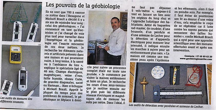 Géobiologie le Mans, sarthe, 72