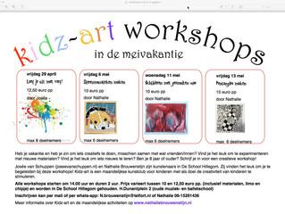 Extra workshops in de meivakantie