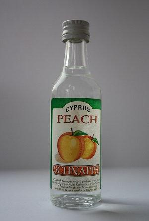 Cyprus peach schnapps