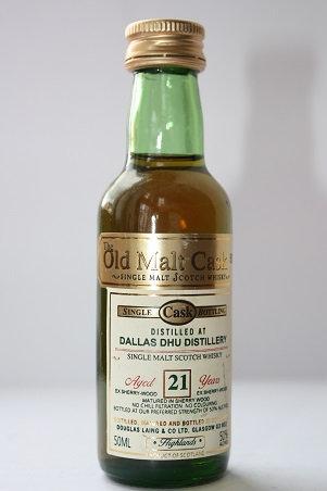 Dallas Dhu. Old Malt Cask 21 years single malt, single cask, Highlands