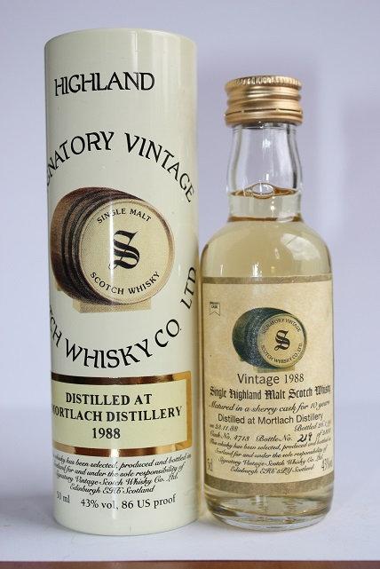Mortlach. Signatory vintage 1988 Highland single 10 years, 11 years