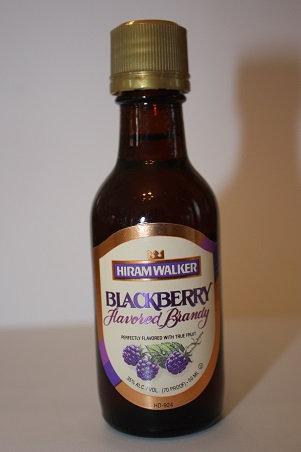 Blackberry flavored brandy