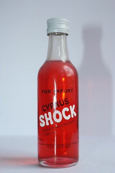 Shock for export hot&cool cinnamon liqueur