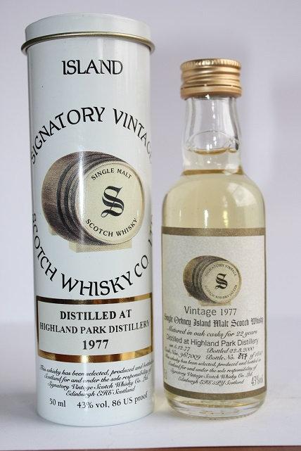 Highland Park. Signatory vintage 1977 Island single 22 years. Bottle #897/1850