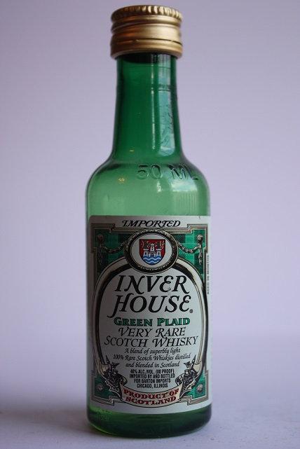 Inver house green plaid very rare scotch whisky