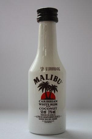 Malibu carribean white rum with coconut