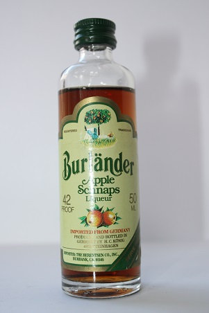 Burlander apple schnaps liqueur