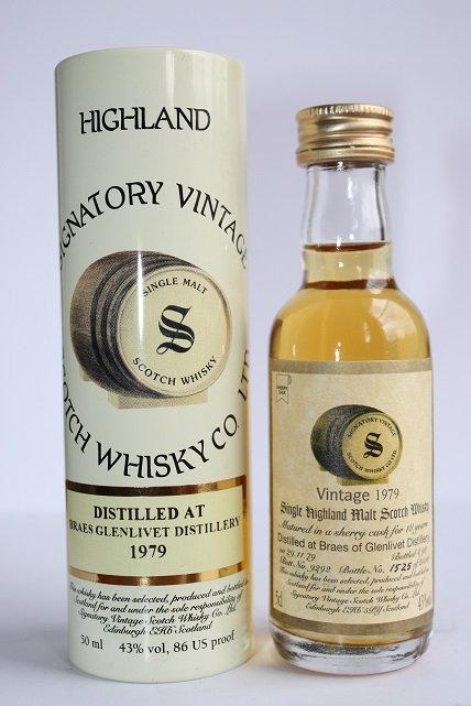 Braes of Glenlivet. 1979 Highland single 18 years. Bottle #1525/2500