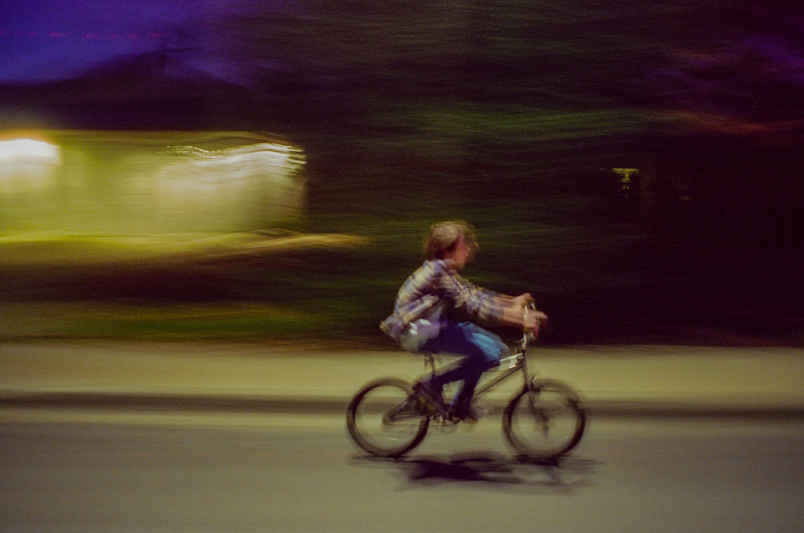 daniel, our protagonist, on his bike