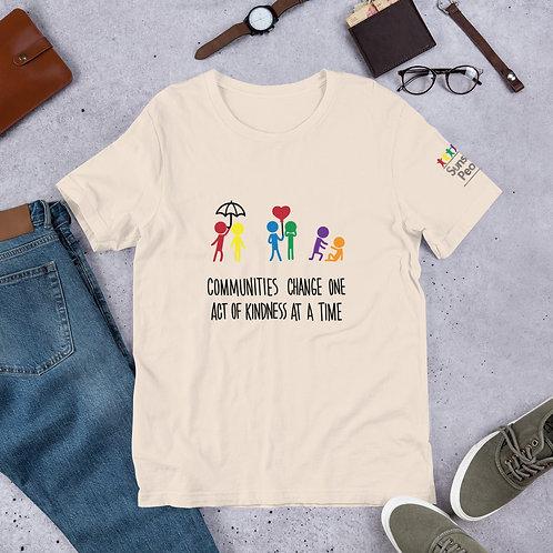 Communities change - Light colour ADULT Unisex T-Shirt