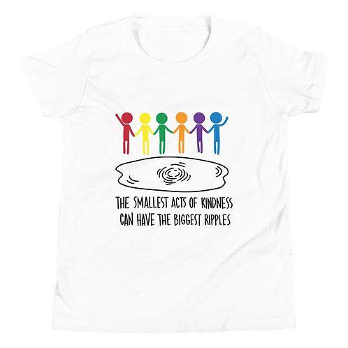 Ripples of Kindess - Light coloured YOUTH Short Sleeve T-Shirt
