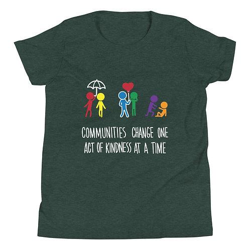 Communities change - Dark colour YOUTH Short Sleeve T-Shirt