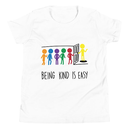 Being kind is easy - Light coloured YOUTH Short Sleeve T-Shirt
