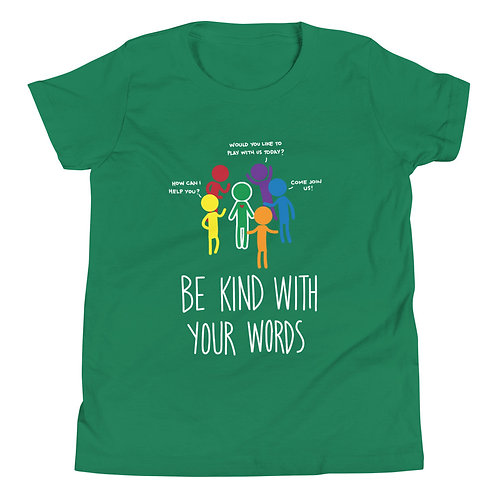 Being kind is easy - Dark coloured YOUTH Short Sleeve T-Shirt