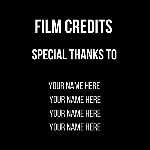 Be in the film credits