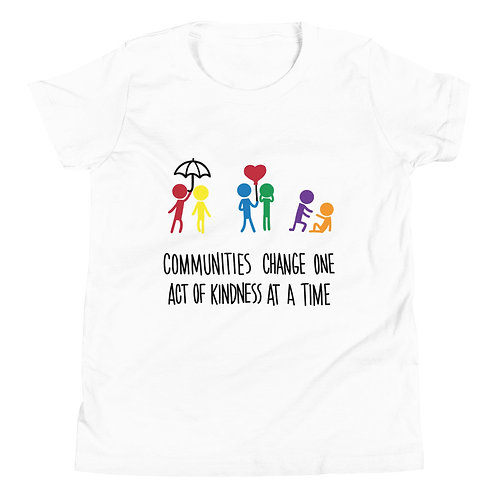 Communities change - Light coloured YOUTH Short Sleeve T-Shirt