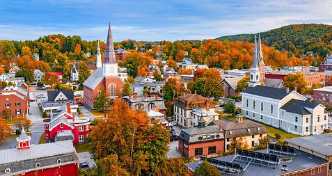Fall in a Vermont town