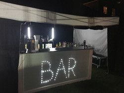 LED Bar setup in a gazebo