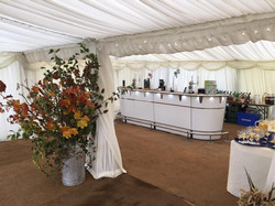 Zipbar in a marquee