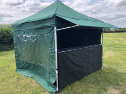 Gazebo with canopy and bar counter