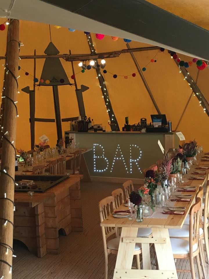LED bar in a Tipi