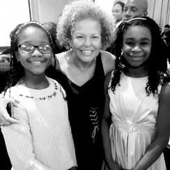 Enjoying a memorable evening with Debra Lee of BET