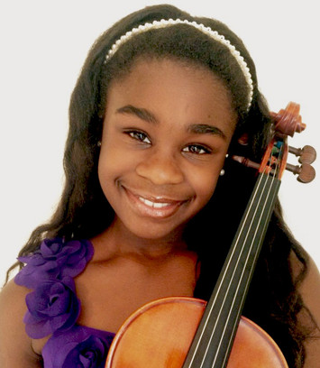 Kearston showing her violin some love!