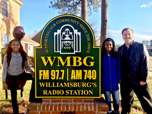 Radio show in historic Williamsburg, VA