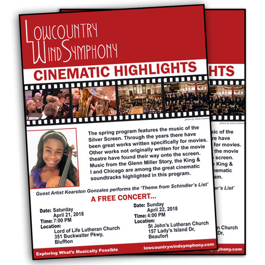 Promotional flyer featuring Kearston as the guest artist.