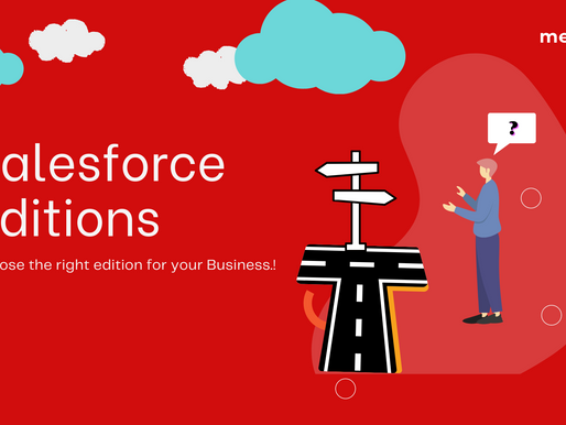 Don't invest blindly in CRM. Guide-How to choose the right Salesforce Edition for your Business.