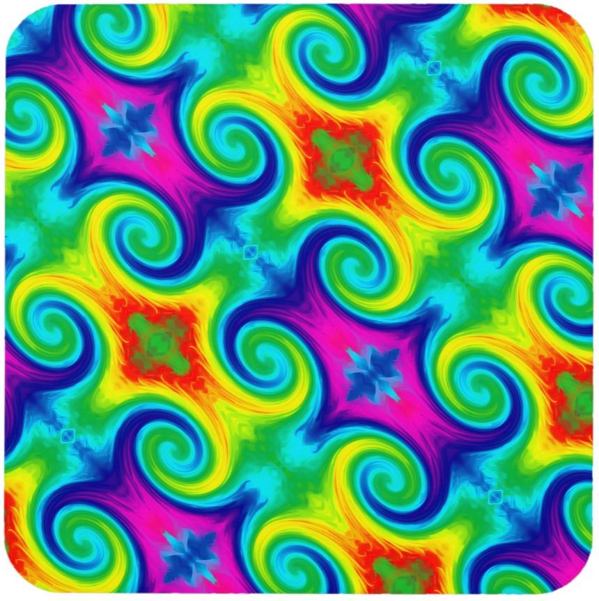 Kaleidoscopic Rainbow Swirl