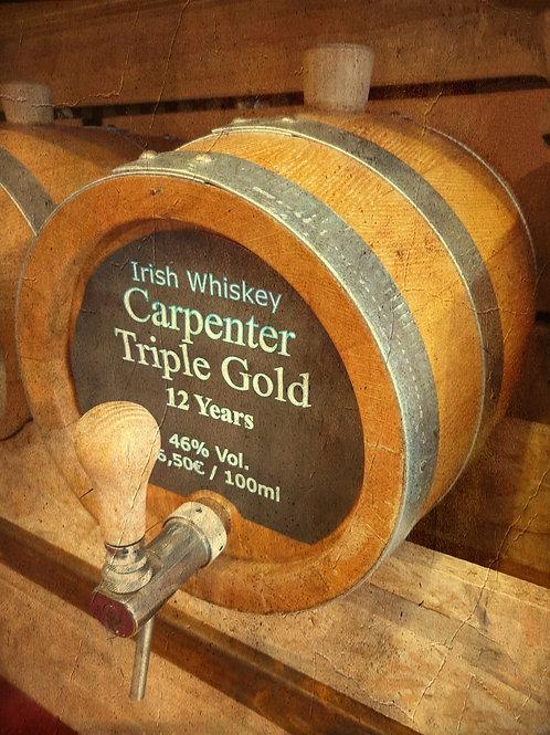 """Irish Whiskey Original """"Carpenter Triple Gold"""" Rum Cask 12Jahre 46% vom Fass"""