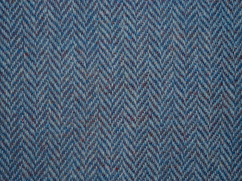 "Original Harris Tweed Meterware ""Blue Sea"" hellblau/weiß Herringbone"