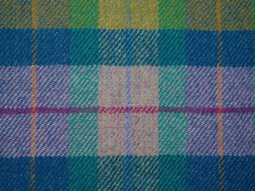 "Original Harris Tweed Meterware ""Pastell Check"" pastels violett/grün kariert"