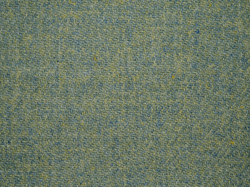 "Original Harris Tweed Meterware ""Spring Moss"" warm grün/blau"